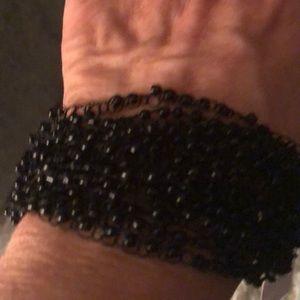 Bracelet black beaded